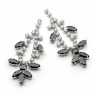 Wonderland Jet Black Crystal Earrings